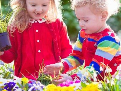 Børn og planter